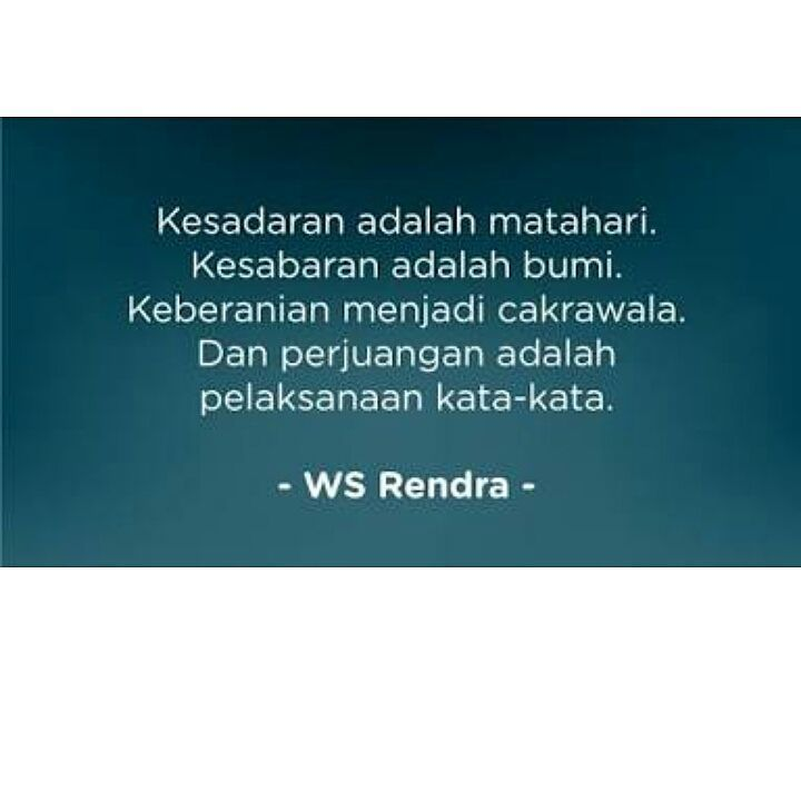 Inspirasi by WS Rendra